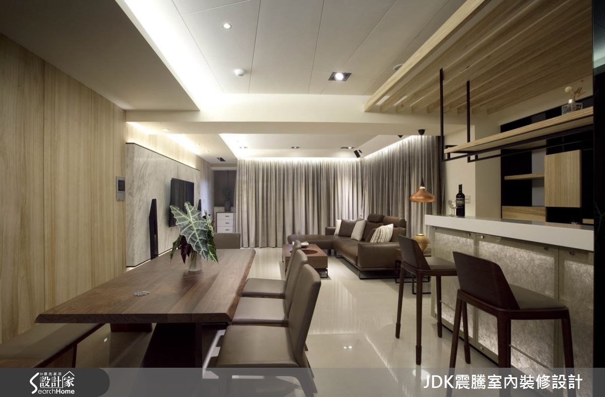 35坪新成屋(5年以下)_現代風餐廳案例圖片_震騰室內裝修設計工程有限公司_震騰_07之7