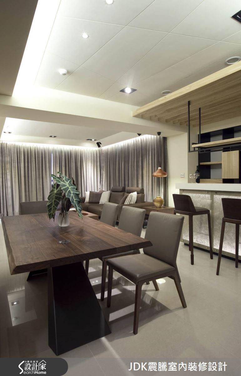 35坪新成屋(5年以下)_現代風餐廳案例圖片_震騰室內裝修設計工程有限公司_震騰_07之8