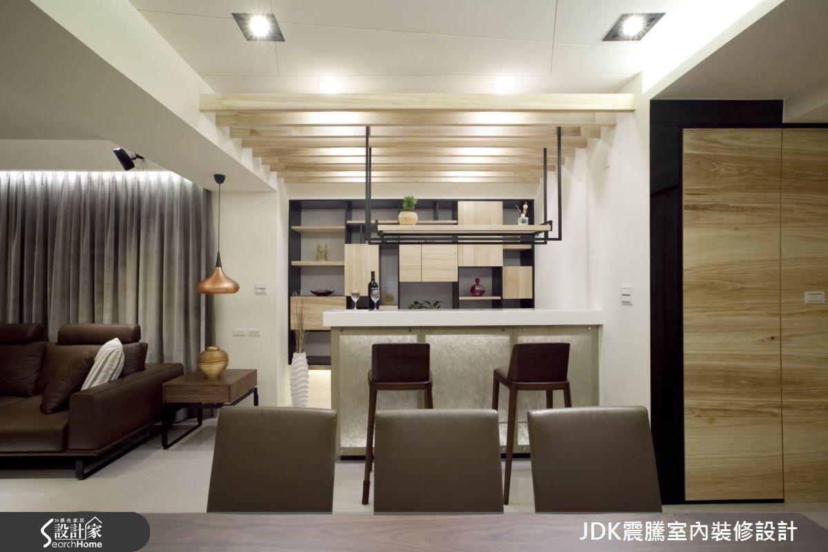 35坪新成屋(5年以下)_現代風餐廳案例圖片_震騰室內裝修設計工程有限公司_震騰_07之10