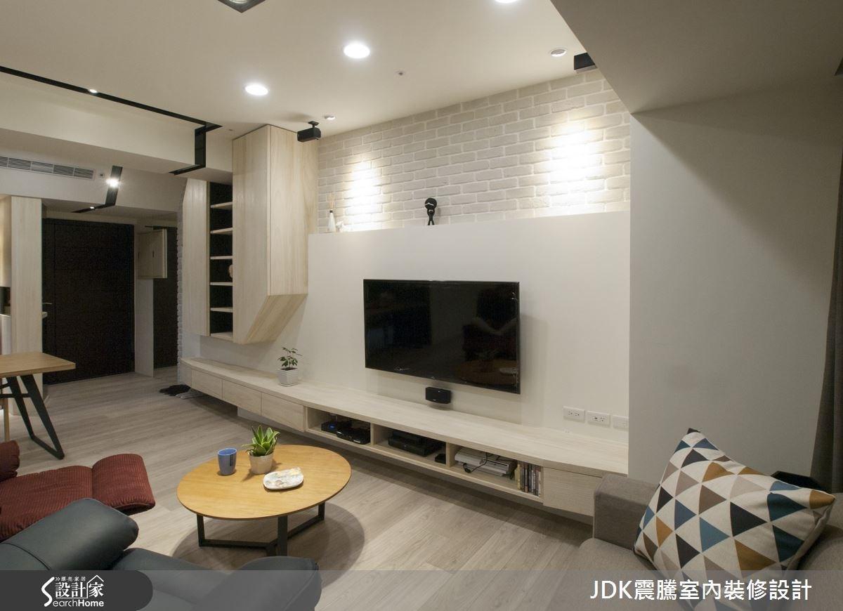 25坪新成屋(5年以下)_北歐風客廳案例圖片_震騰室內裝修設計工程有限公司_震騰_12之2