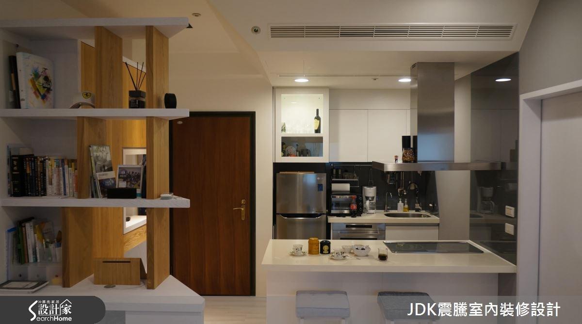 8坪新成屋(5年以下)_簡約風廚房吧檯案例圖片_震騰室內裝修設計工程有限公司_震騰_16之1