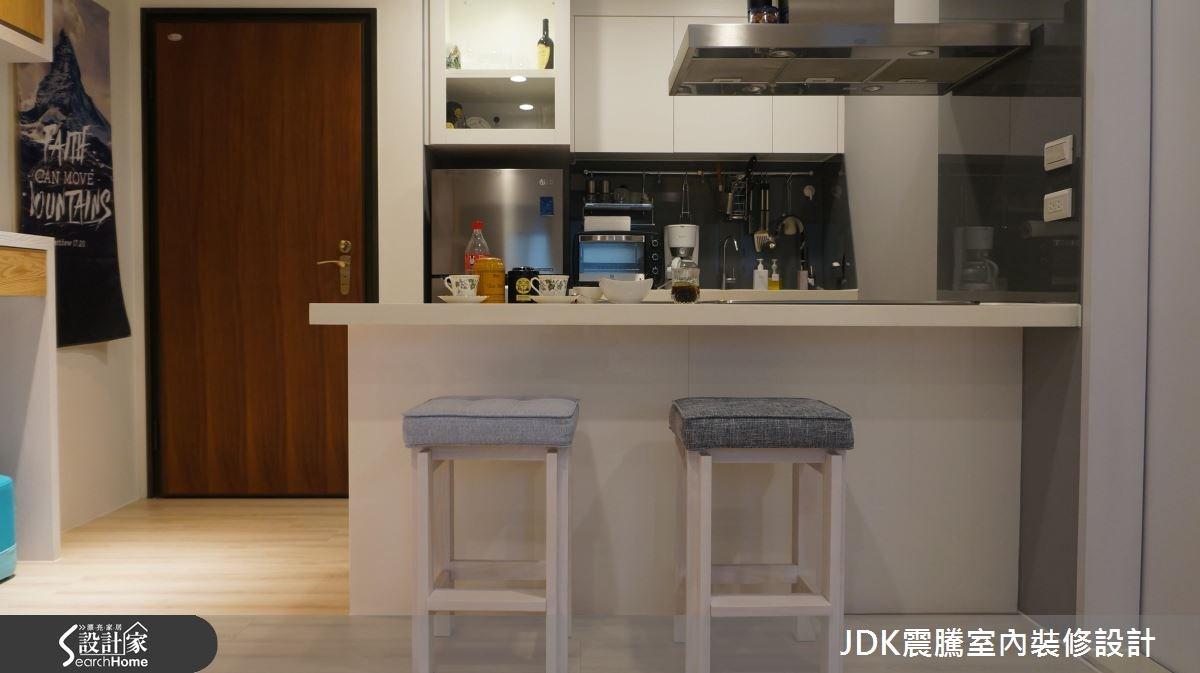8坪新成屋(5年以下)_簡約風廚房吧檯案例圖片_震騰室內裝修設計工程有限公司_震騰_16之2