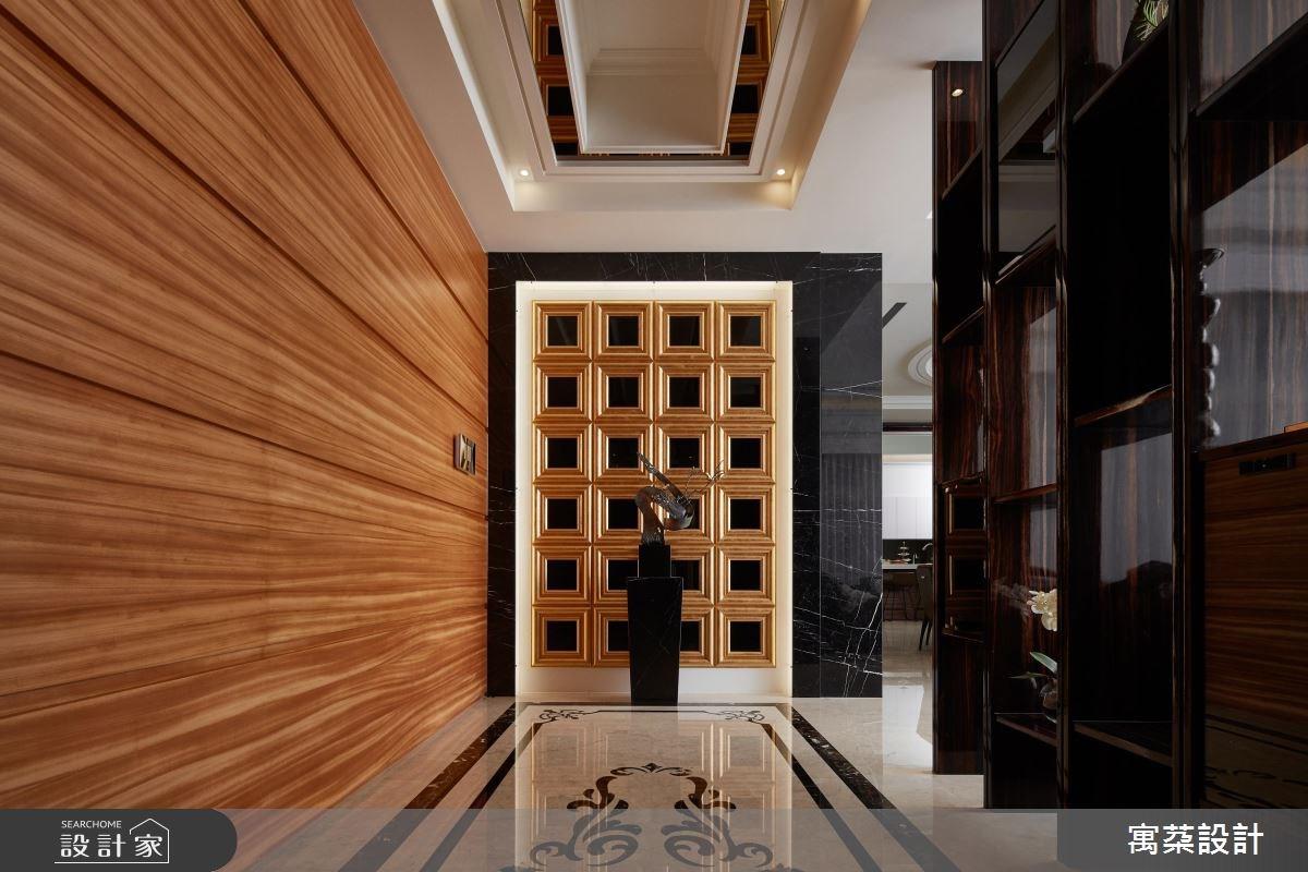 200坪新成屋(5年以下)_混搭風玄關案例圖片_寓朵設計_寓朵_26之1