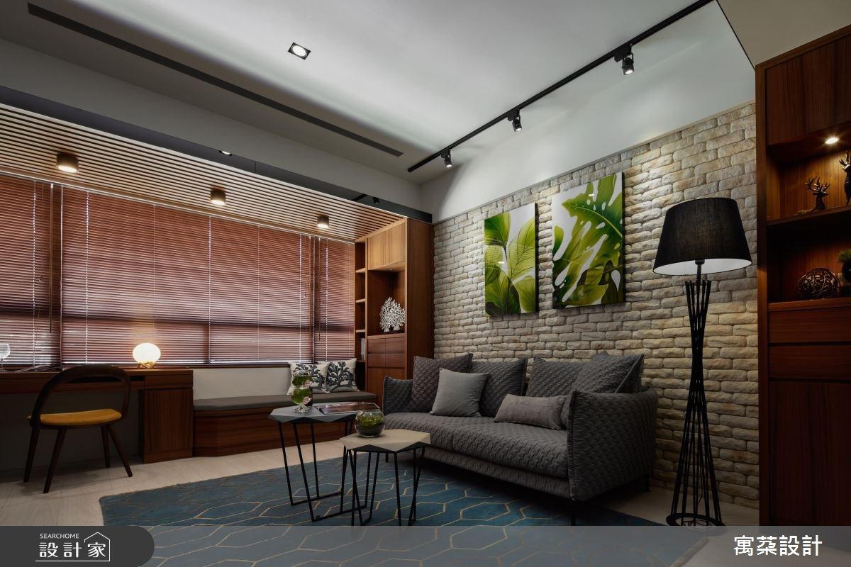 20坪新成屋(5年以下)_休閒風客廳案例圖片_寓朵設計_寓朵_28之2