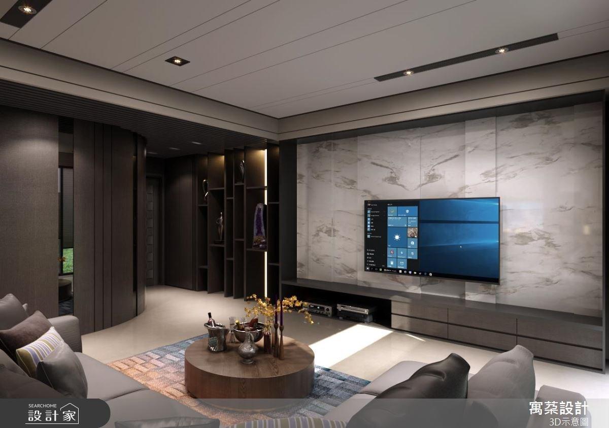 40坪新成屋(5年以下)_現代風客廳案例圖片_寓朵設計_寓朵_29之1
