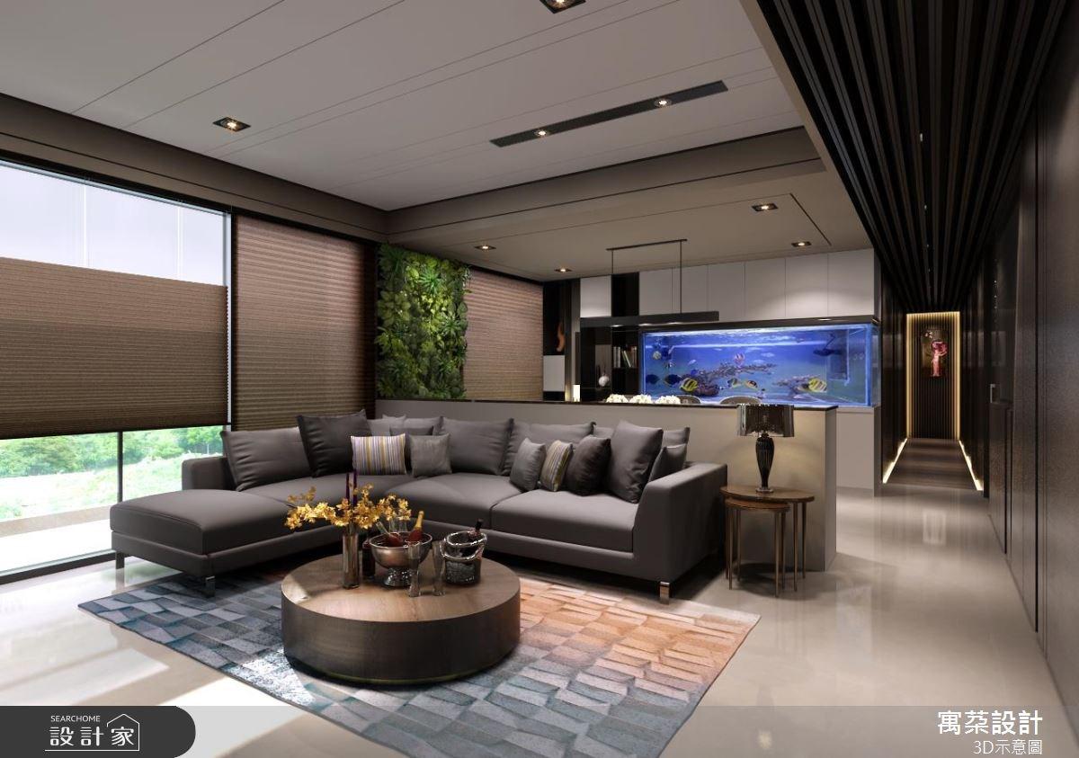 40坪新成屋(5年以下)_現代風客廳案例圖片_寓朵設計_寓朵_29之2