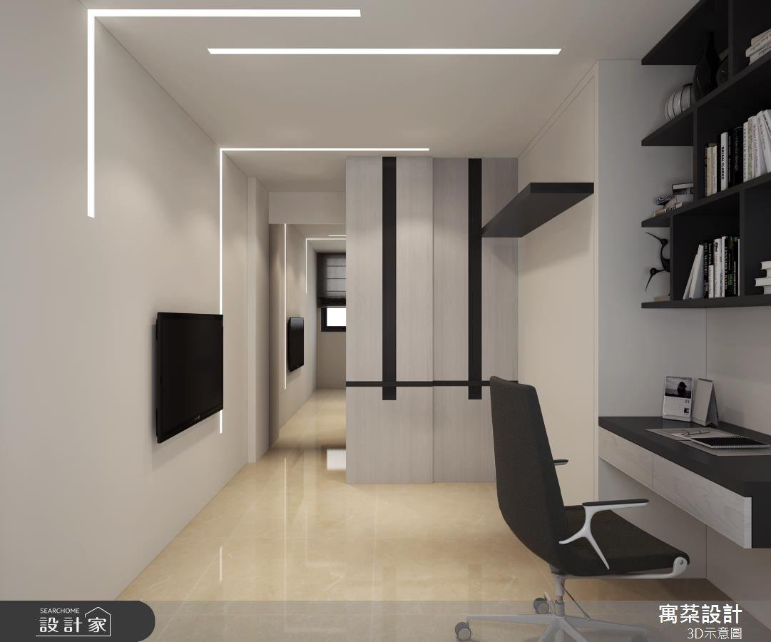 20坪新成屋(5年以下)_混搭風臥室案例圖片_寓朵設計_寓朵_31之3