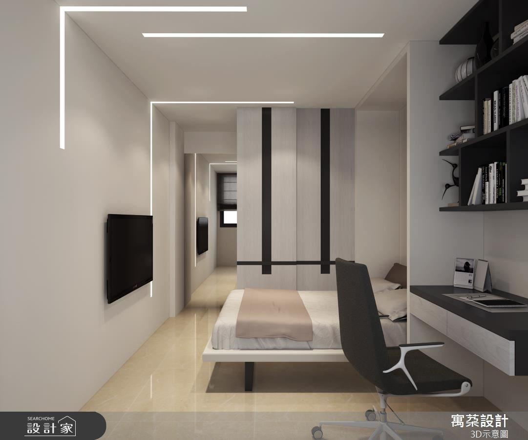 20坪新成屋(5年以下)_混搭風臥室案例圖片_寓朵設計_寓朵_31之4