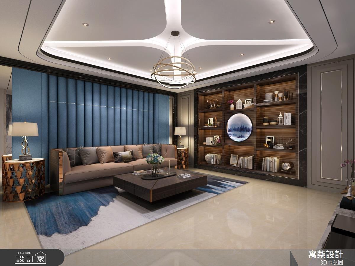 80坪新成屋(5年以下)_奢華風客廳案例圖片_寓朵設計_寓朵_32之2