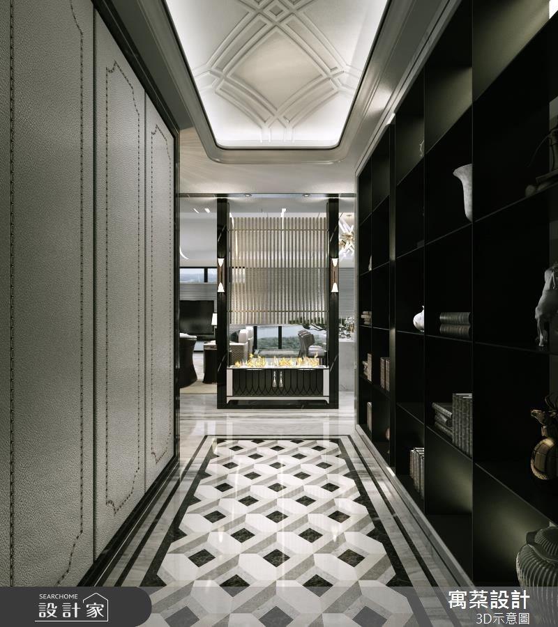 80坪新成屋(5年以下)_新中式風玄關案例圖片_寓朵設計_寓朵_34之1