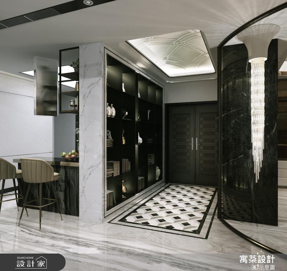 80坪新成屋(5年以下)_新中式風玄關案例圖片_寓朵設計_寓朵_34之2