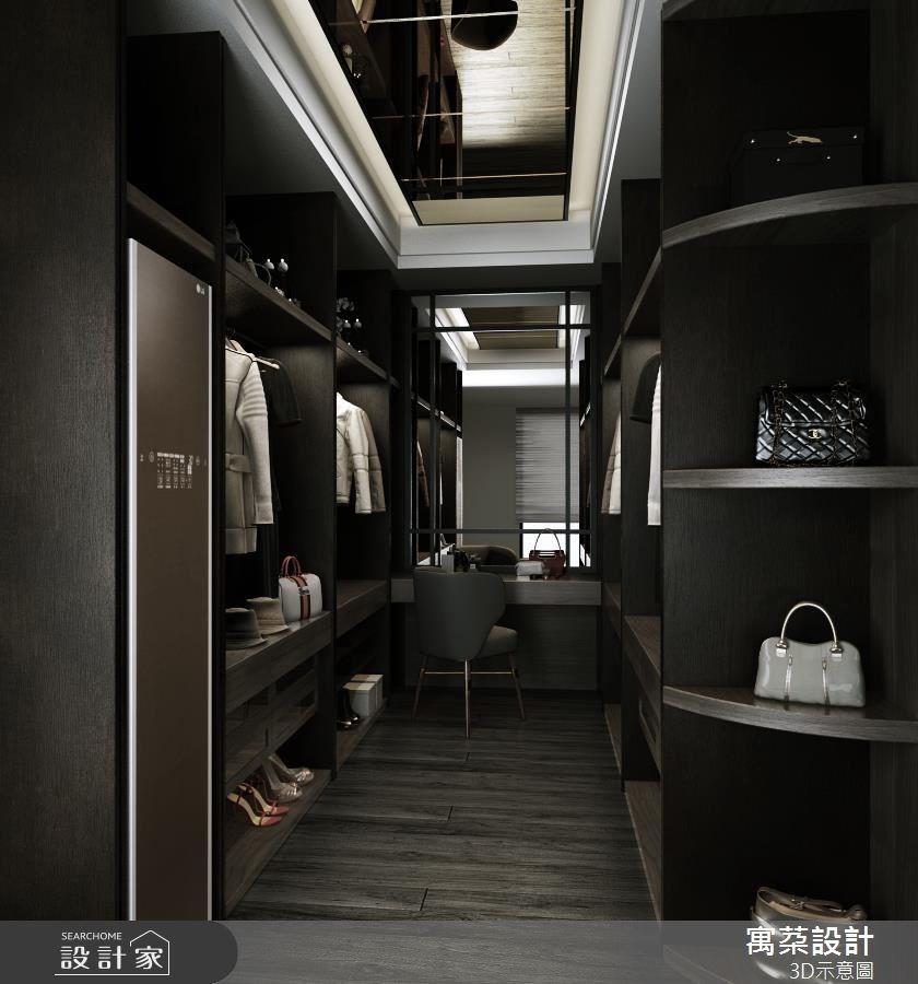 80坪新成屋(5年以下)_新中式風更衣間案例圖片_寓朵設計_寓朵_34之11
