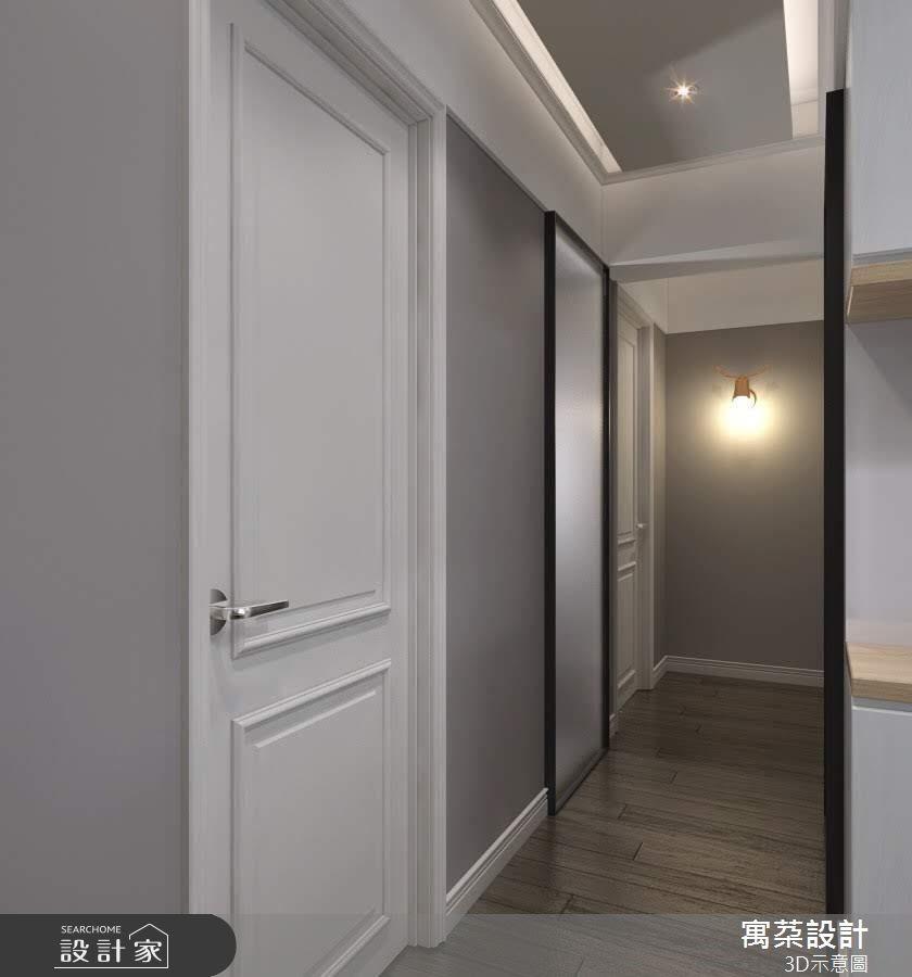 32坪中古屋(5~15年)_美式風走廊案例圖片_寓朵設計_寓朵_37之2