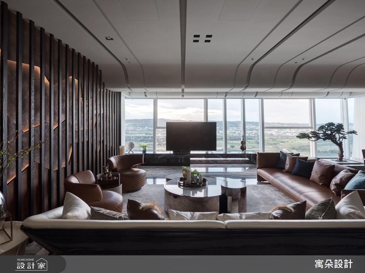 100坪新成屋(5年以下)_新中式風客廳案例圖片_寓朵設計_寓朵_39之4