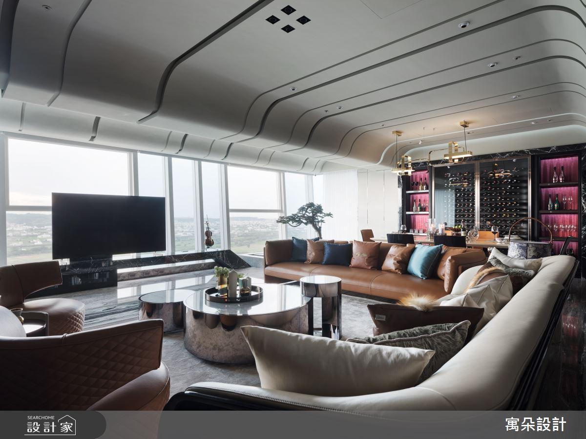 100坪新成屋(5年以下)_新中式風客廳案例圖片_寓朵設計_寓朵_39之6