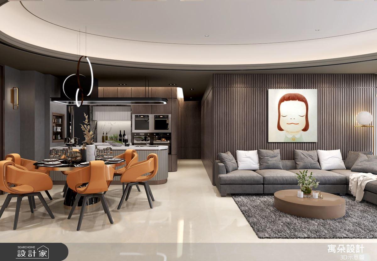 56坪新成屋(5年以下)_新古典客廳案例圖片_寓朵設計_寓朵_40之2