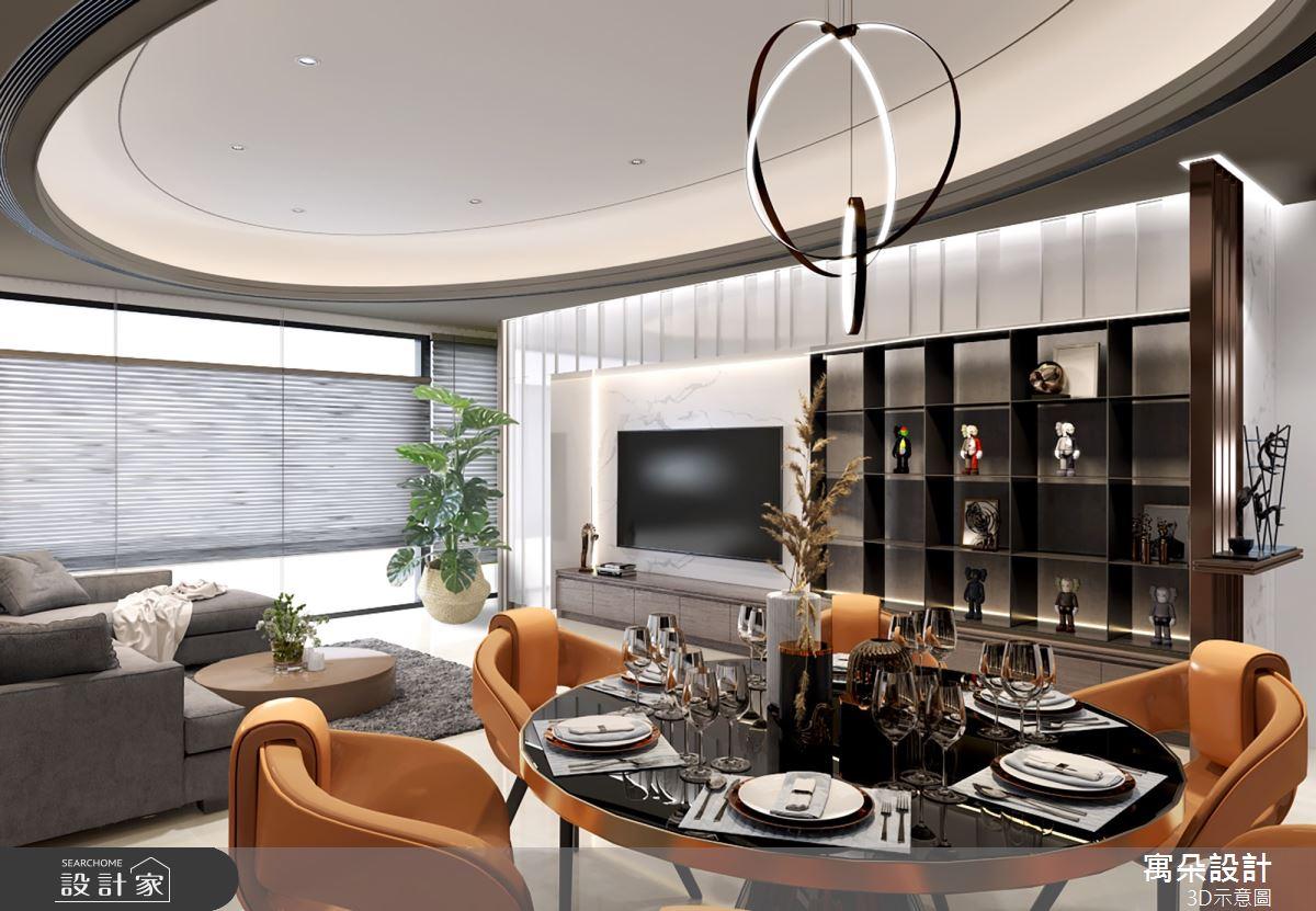 56坪新成屋(5年以下)_新古典客廳案例圖片_寓朵設計_寓朵_40之3