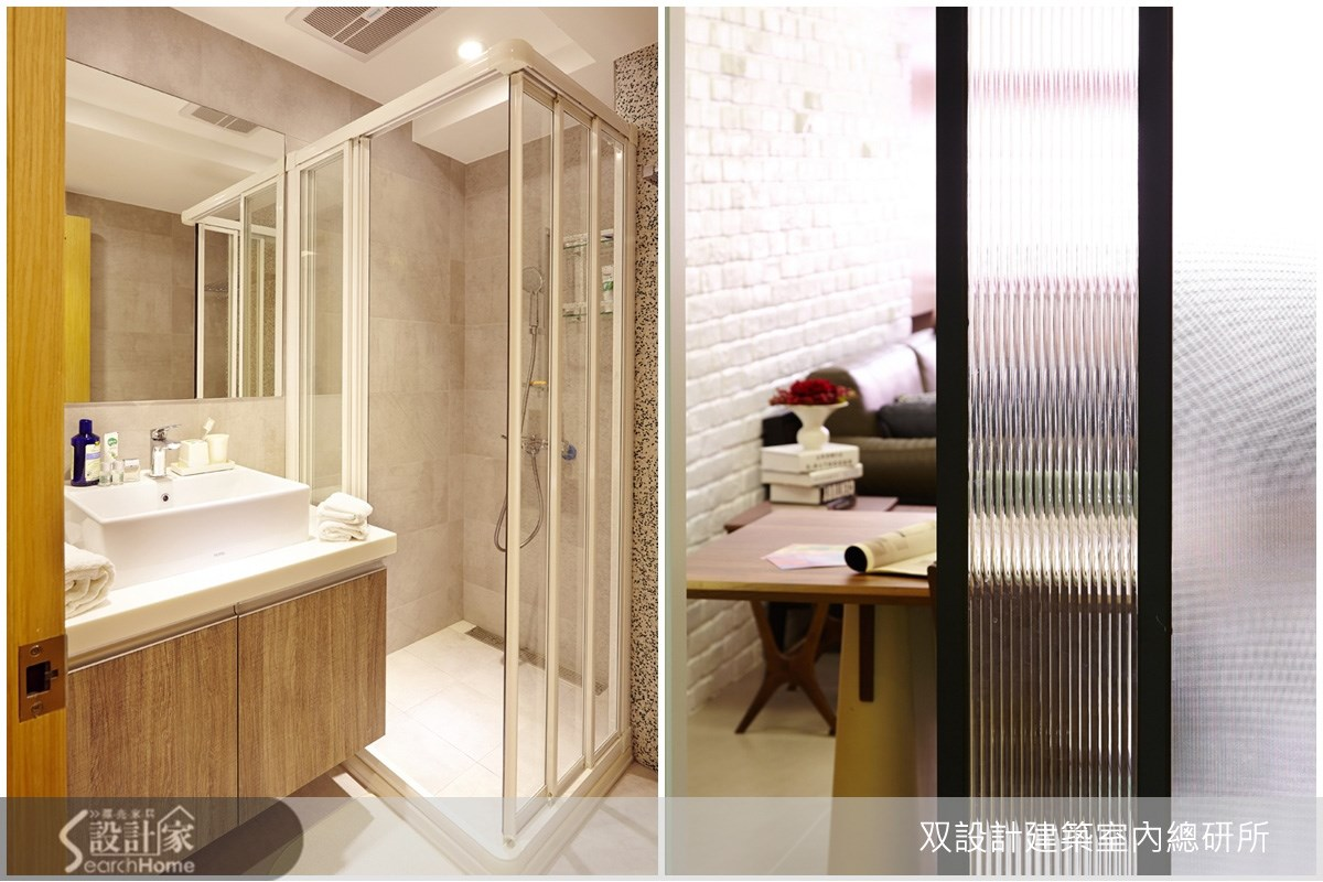 20坪老屋(16~30年)_北歐風客廳浴室案例圖片_双設計建築室內總研所_双設計_01之11