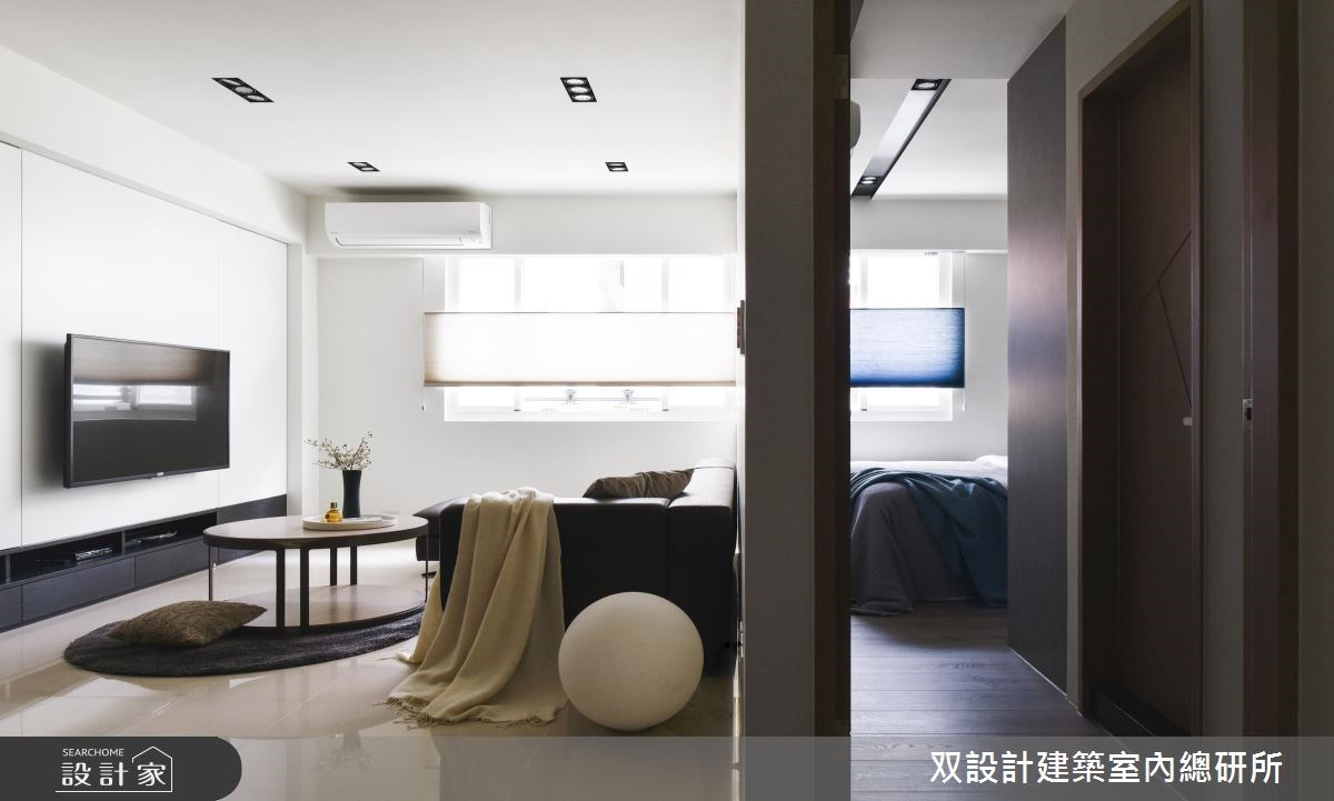 25坪中古屋(5~15年)_現代風客廳案例圖片_双設計建築室內總研所_双設計_09之2