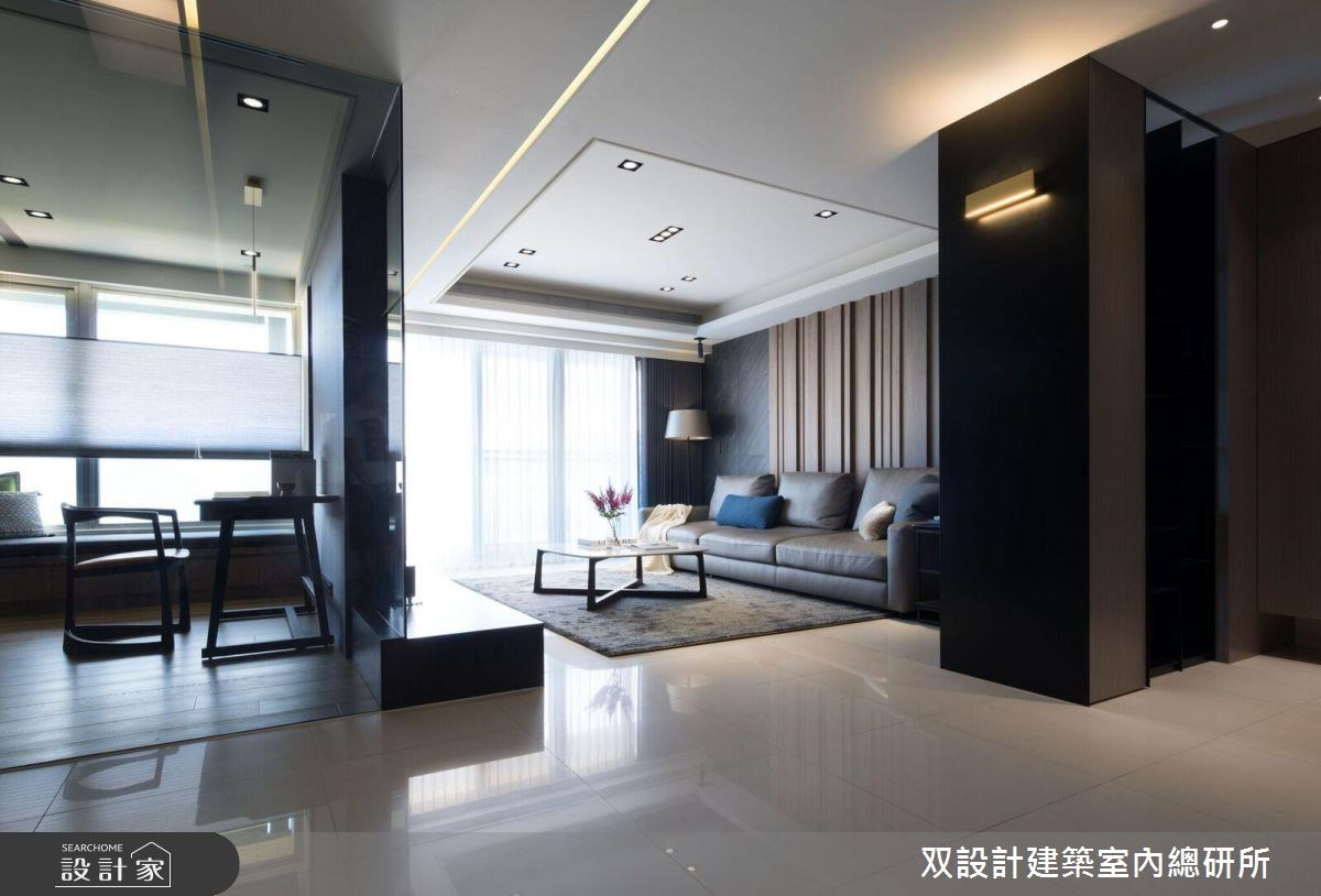 40坪新成屋(5年以下)_現代風客廳案例圖片_双設計建築室內總研所_双設計_10之3