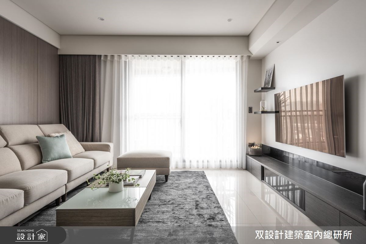 40坪新成屋(5年以下)_現代風客廳案例圖片_双設計建築室內總研所_双設計_11之3