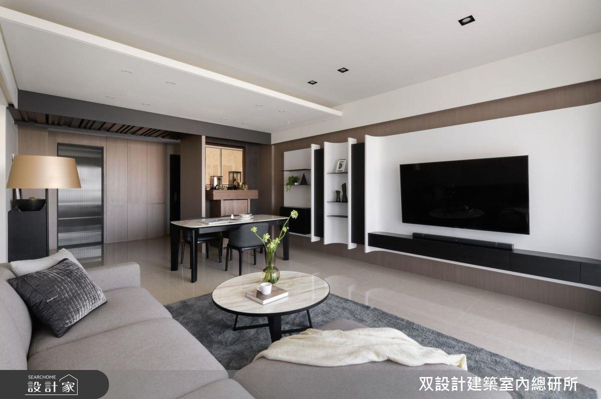 36坪新成屋(5年以下)_現代風客廳案例圖片_双設計建築室內總研所_双設計_12之4