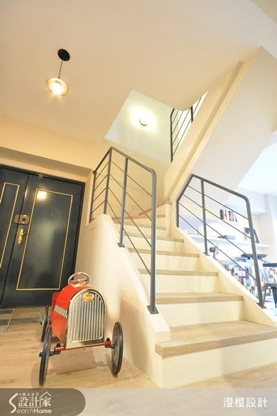 60坪中古屋(5~15年)_休閒風玄關樓梯案例圖片_澄橙設計_澄橙_05之1