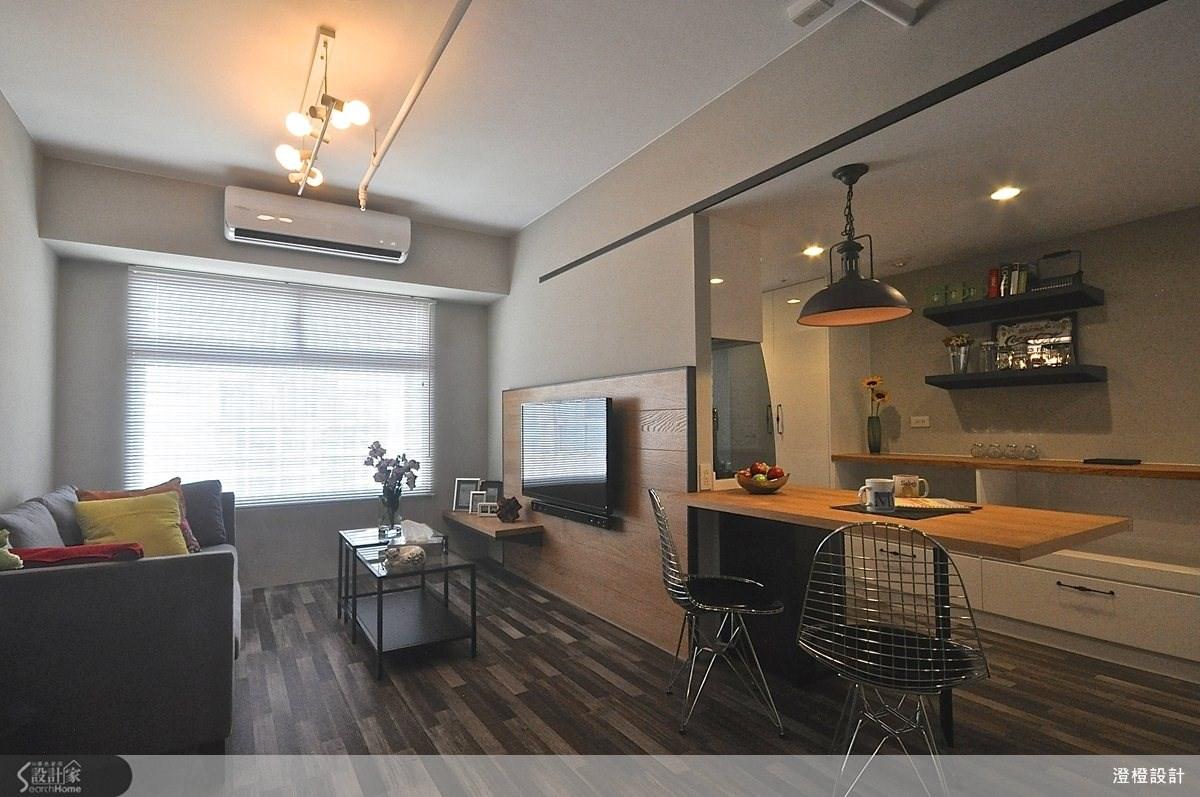 25坪新成屋(5年以下)_北歐風客廳餐廳案例圖片_澄橙設計_澄橙_08之3