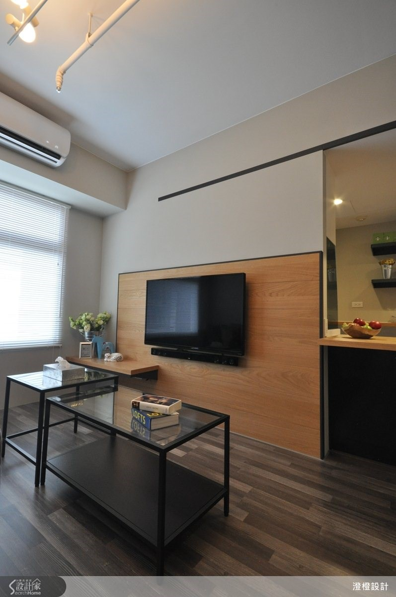 25坪新成屋(5年以下)_北歐風客廳案例圖片_澄橙設計_澄橙_08之2