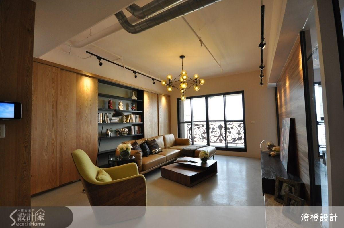 45坪新成屋(5年以下)_現代風客廳案例圖片_澄橙設計_澄橙_09之1