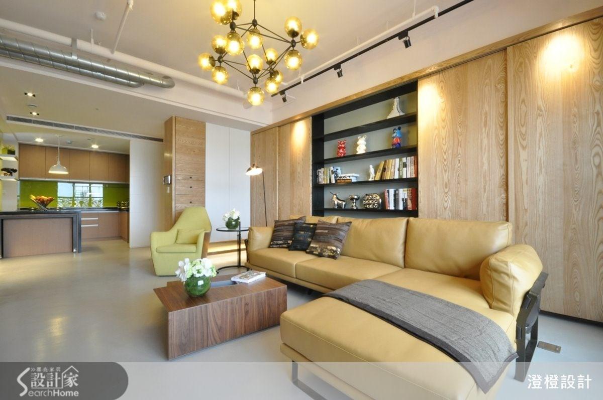 45坪新成屋(5年以下)_現代風客廳廚房案例圖片_澄橙設計_澄橙_09之3