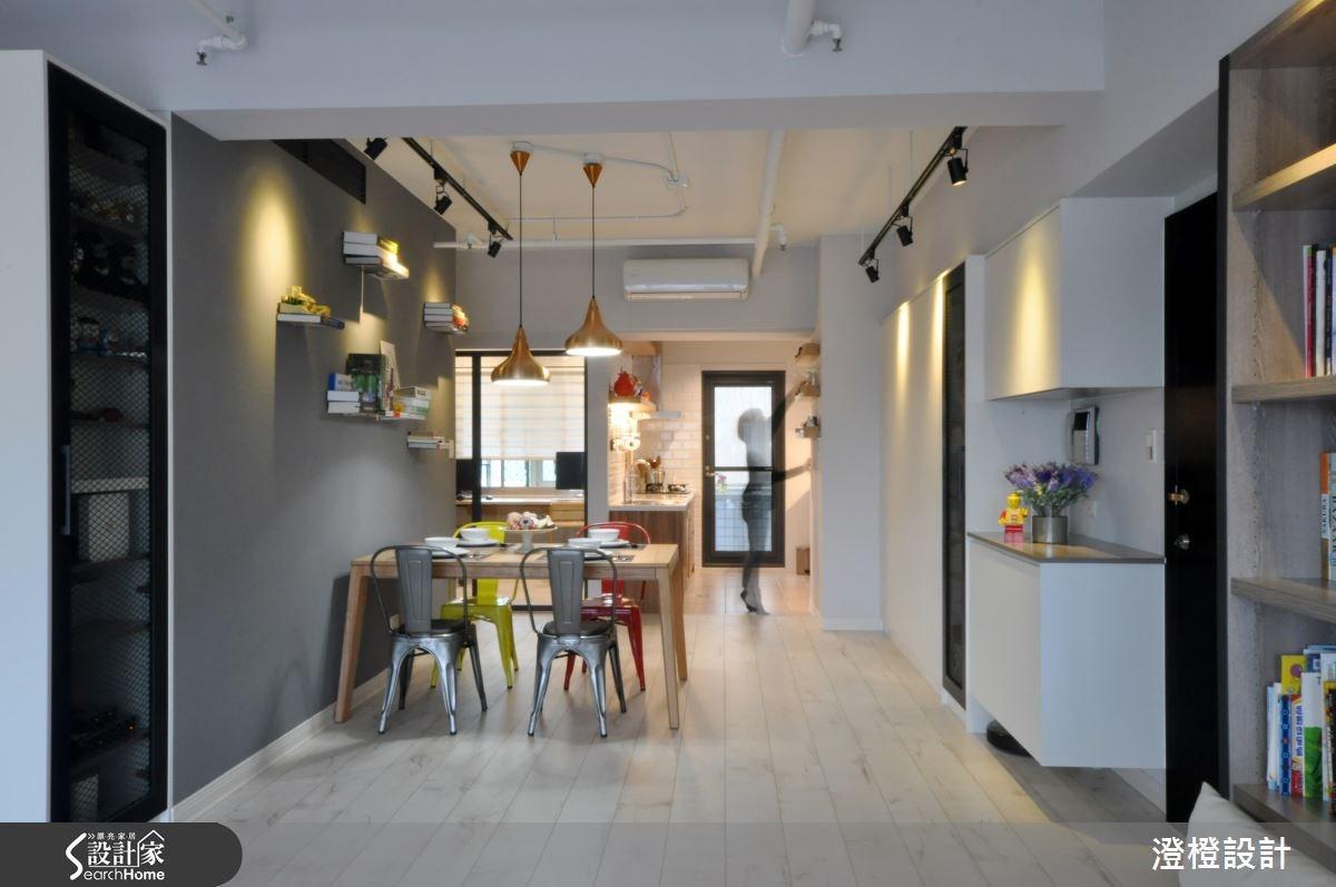 35坪中古屋(5~15年)_北歐風餐廳案例圖片_澄橙設計_澄橙_12之5