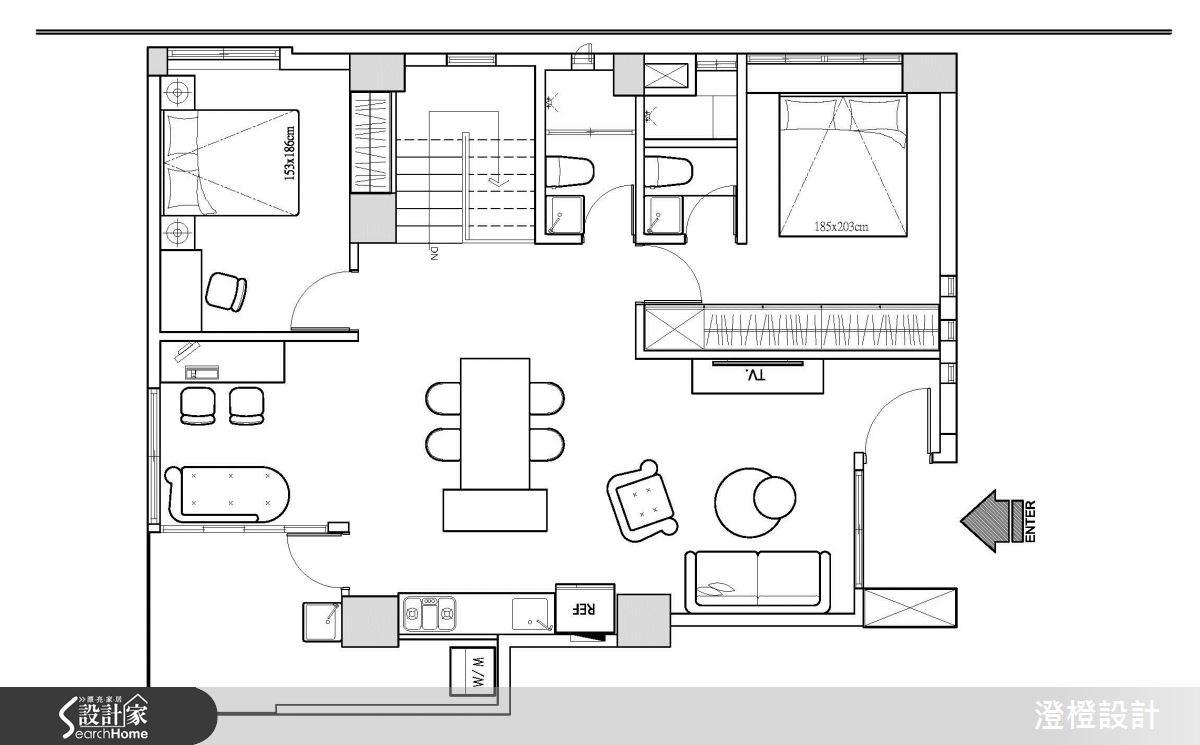 25坪老屋(16~30年)_工業風案例圖片_澄橙設計_澄橙_13之11