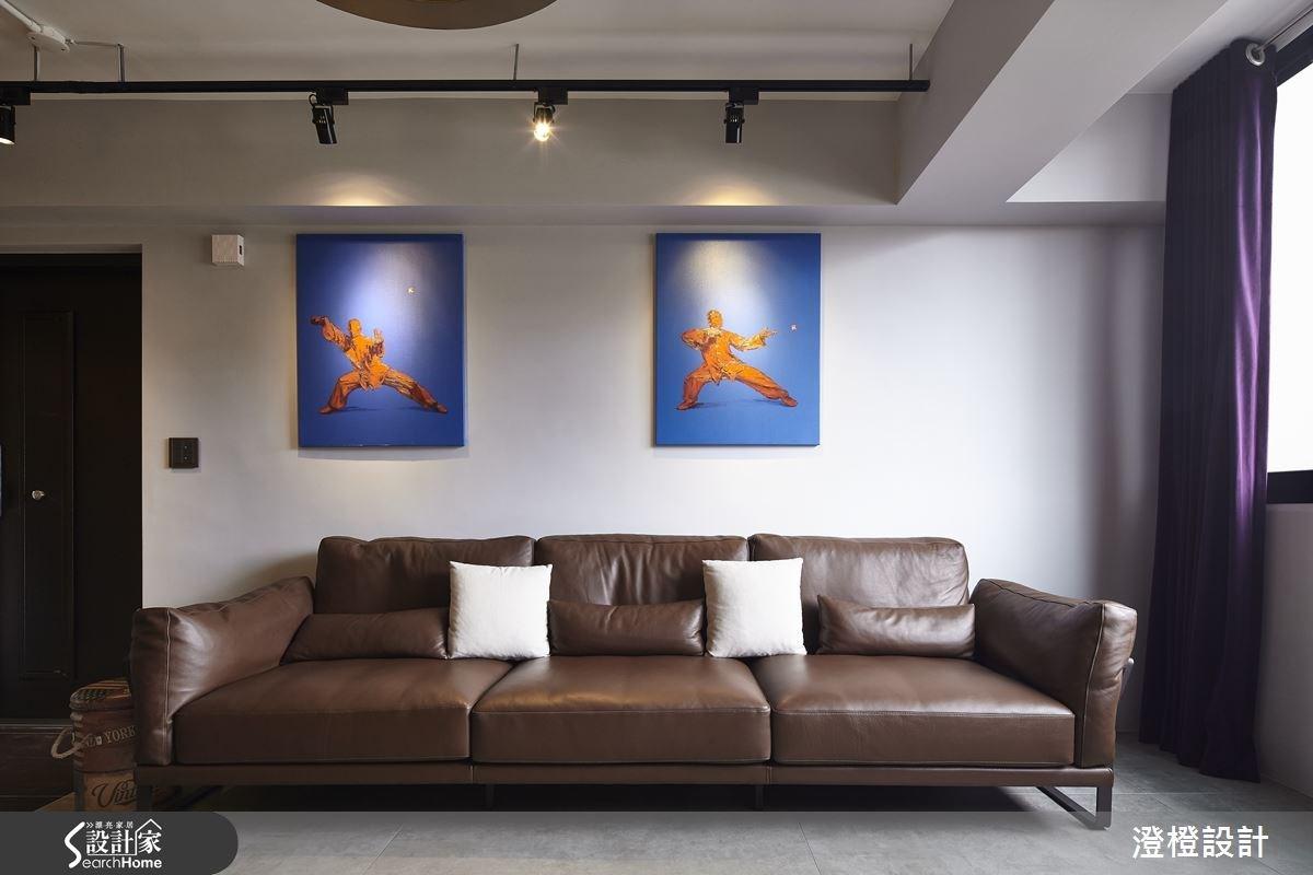 27坪老屋(16~30年)_工業風客廳案例圖片_澄橙設計_澄橙_17之2