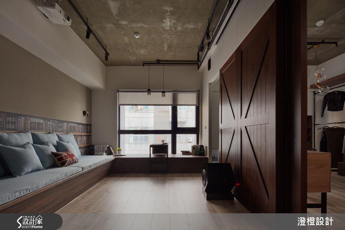 17坪新成屋(5年以下)_工業風客廳臥榻案例圖片_澄橙設計_澄橙_23之1