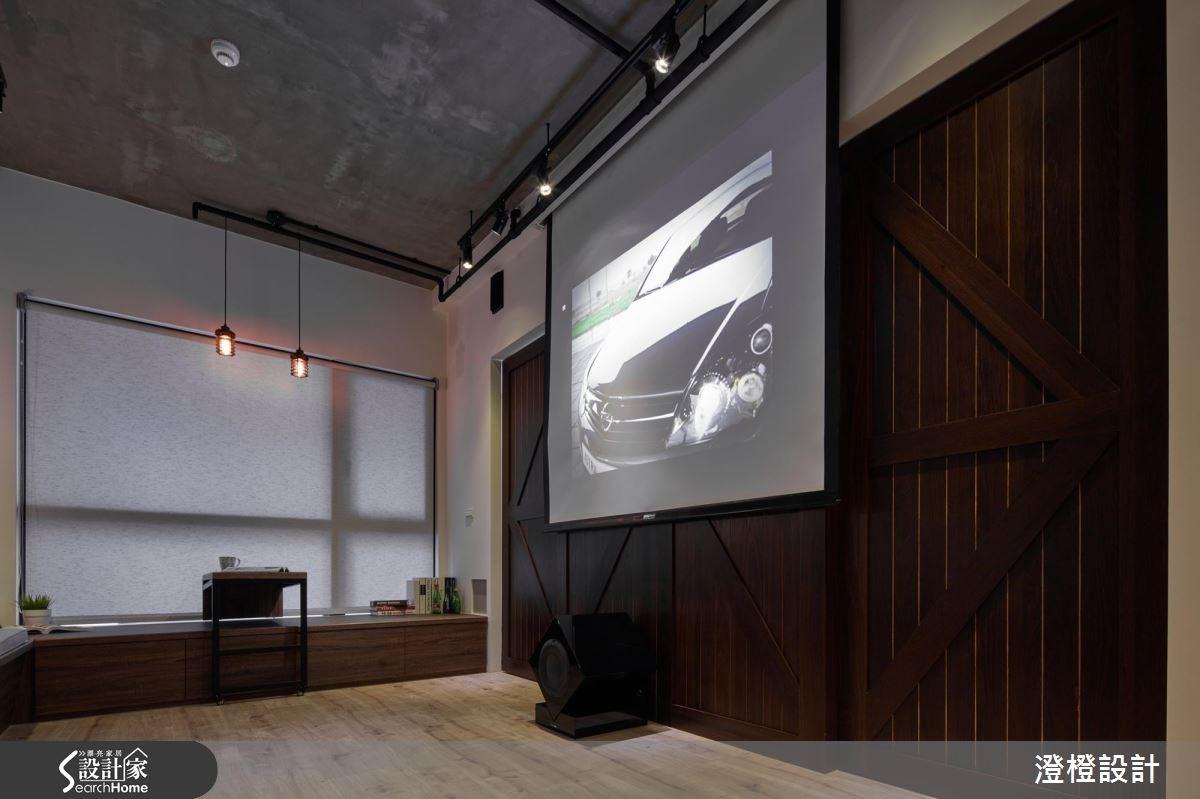 17坪新成屋(5年以下)_工業風客廳臥榻案例圖片_澄橙設計_澄橙_23之4