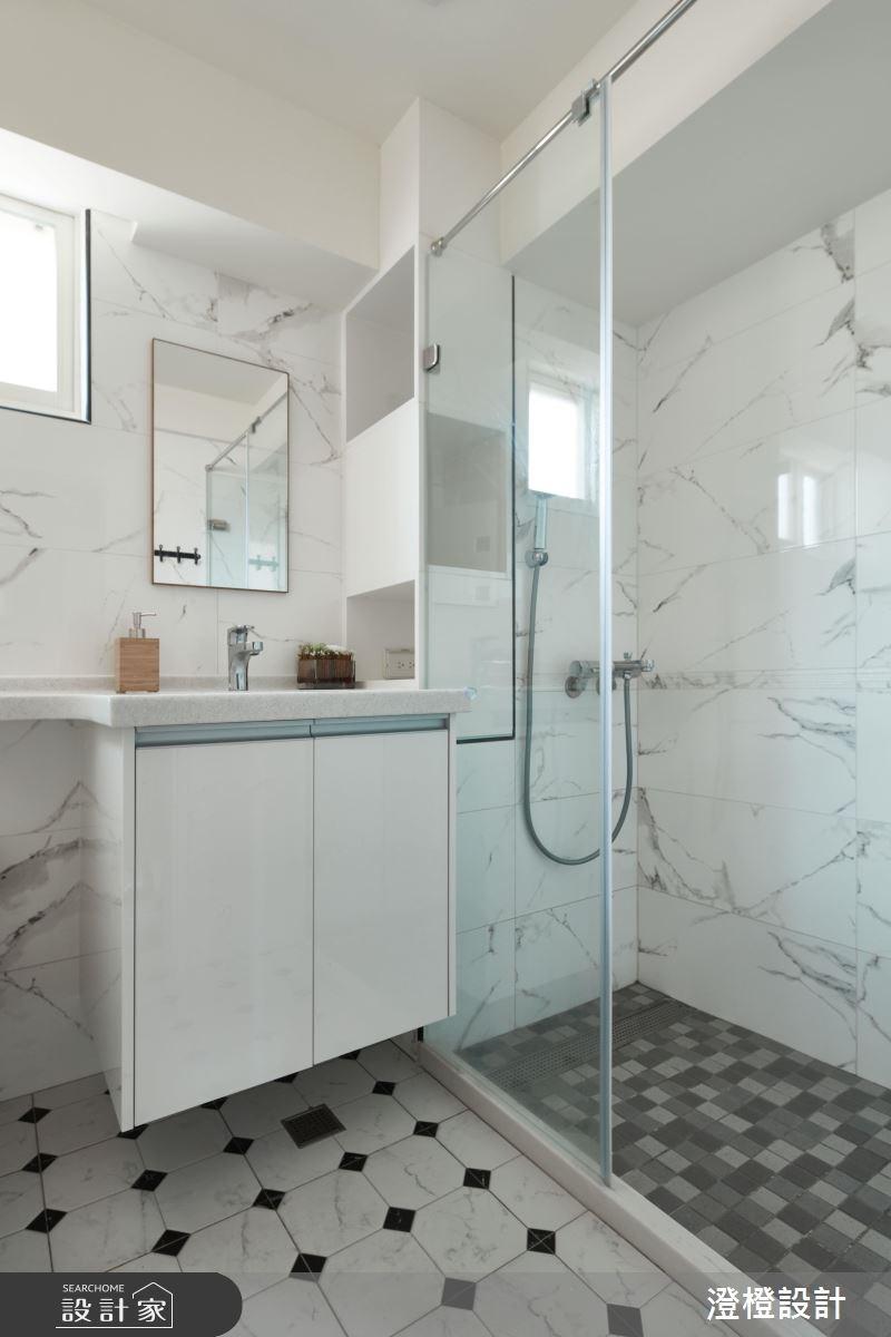 22坪老屋(16~30年)_北歐風浴室案例圖片_澄橙設計_澄橙_30之10