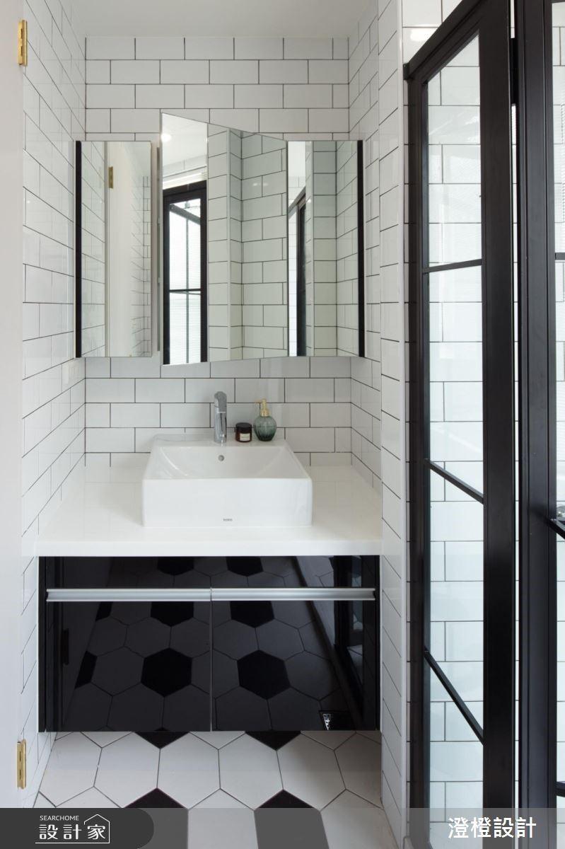 27坪新成屋(5年以下)_工業風浴室案例圖片_澄橙設計_澄橙_37之12