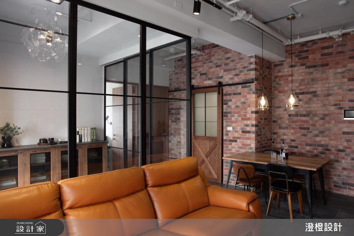 27坪新成屋(5年以下)_工業風客廳案例圖片_澄橙設計_澄橙_37之5