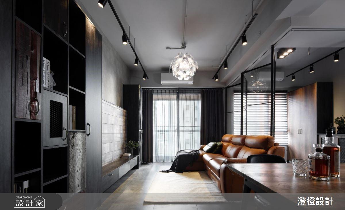 27坪新成屋(5年以下)_工業風客廳案例圖片_澄橙設計_澄橙_37之8