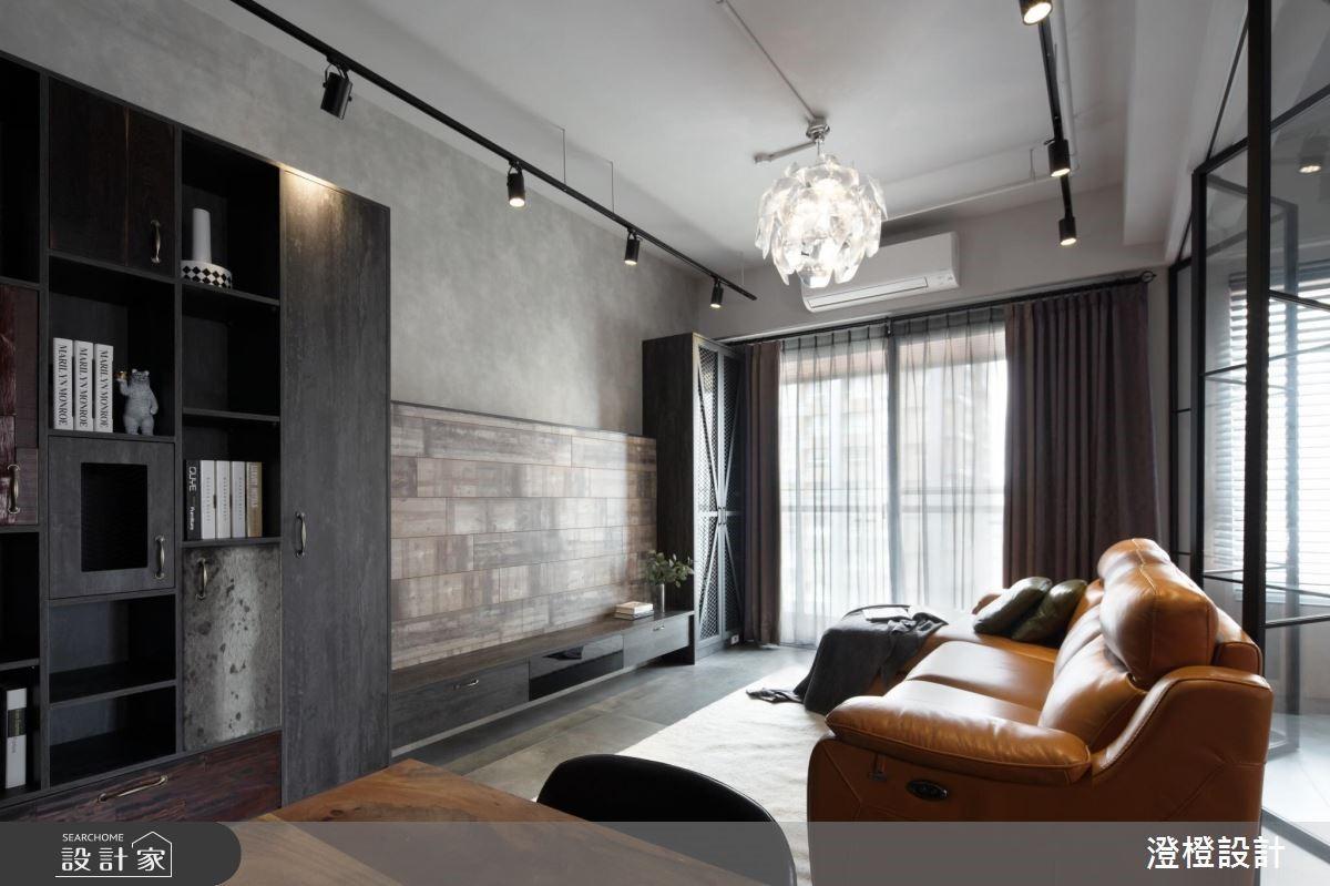 27坪新成屋(5年以下)_工業風客廳案例圖片_澄橙設計_澄橙_37之2