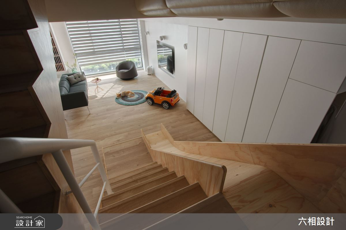 52坪新成屋(5年以下)_簡約風樓梯案例圖片_六相設計_六相_17之3