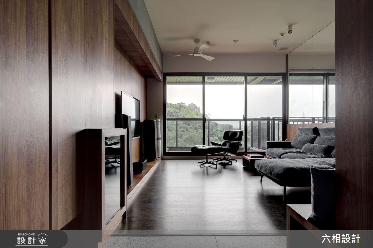 34坪新成屋(5年以下)_簡約風客廳案例圖片_六相設計_六相_26之3