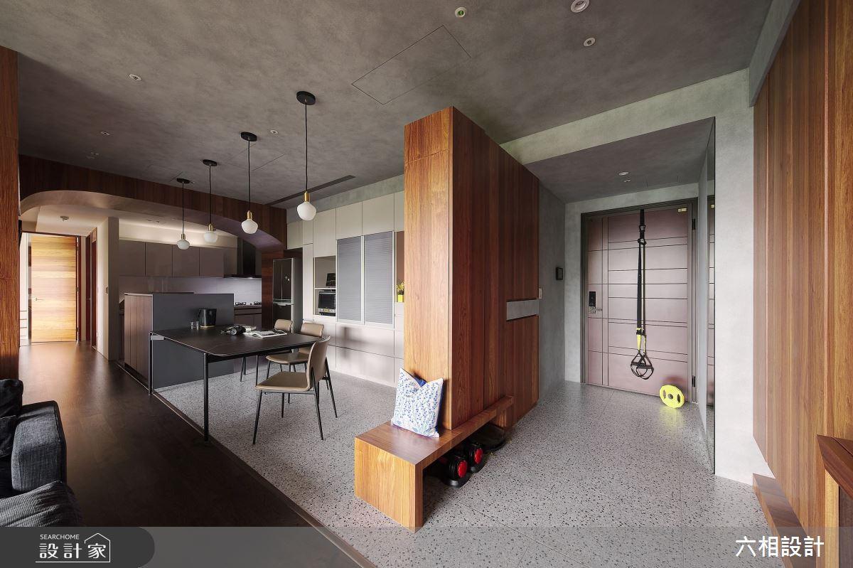 34坪新成屋(5年以下)_簡約風玄關案例圖片_六相設計_六相_26之2