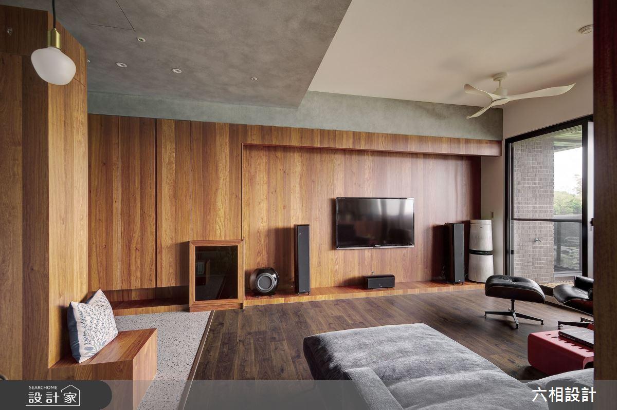 34坪新成屋(5年以下)_簡約風客廳案例圖片_六相設計_六相_26之4