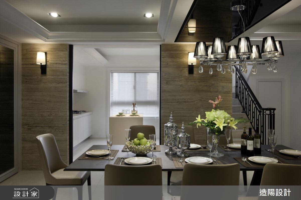 140坪新成屋(5年以下)_現代風餐廳案例圖片_造陽設計_造陽_01之4