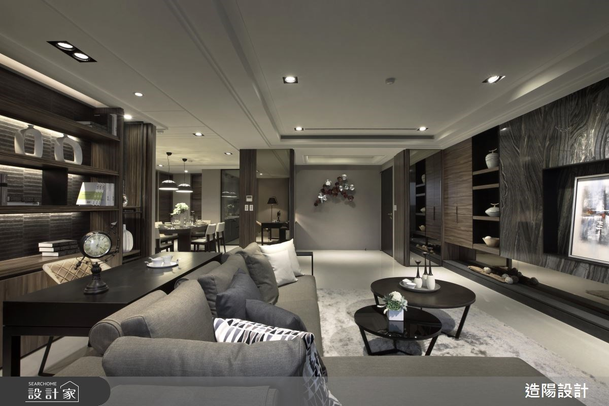 76坪新成屋(5年以下)_現代風客廳案例圖片_造陽設計_造陽_02之3