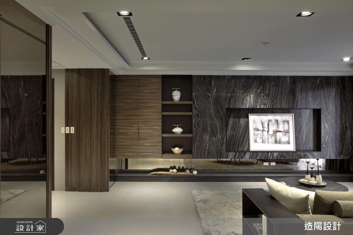 76坪新成屋(5年以下)_現代風客廳案例圖片_造陽設計_造陽_02之4