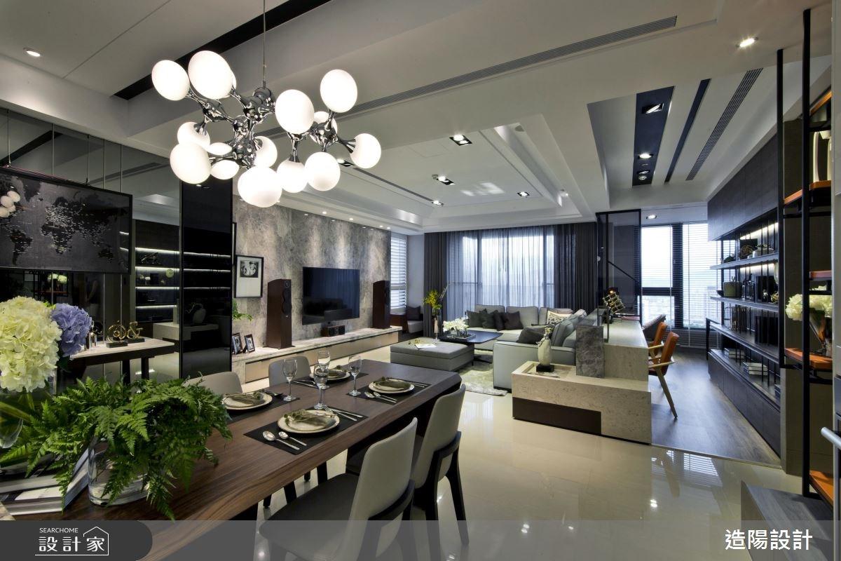 77坪新成屋(5年以下)_現代風客廳餐廳案例圖片_造陽設計_造陽_04之3