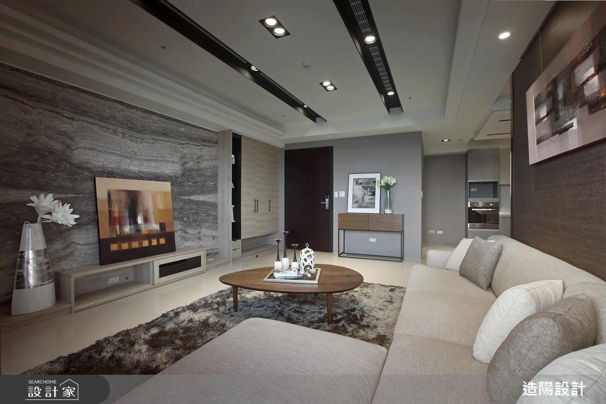56坪新成屋(5年以下)_現代風玄關客廳案例圖片_造陽設計_造陽_07之3